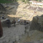 オリャンタイタンボ遺跡への登り階段