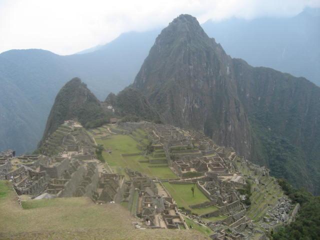 a panorama of Machupicchu